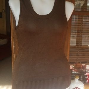 Chico's size 3 brown tank sweater...FALL PERFECT